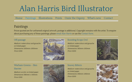 Alan Harris Bird Illustrator